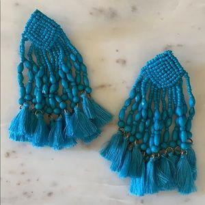 BOGO! Statement Turquoise Beaded Tassel Earrings